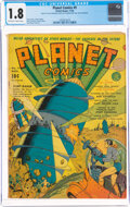 Golden Age (1938-1955):Science Fiction, Planet Comics #9 (Fiction House, 1940) CGC GD- 1.8 Off-white to white pages....