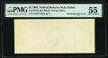 Error Notes:Blank Reverse (100%), Missing Back Printing Error Fr. 1978-K $5 1985 Federal Reserve Note. PMG About Uncirculated 55.. ...