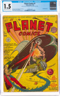 Golden Age (1938-1955):Science Fiction, Planet Comics #7 (Fiction House, 1940) CGC FR/GD 1.5 Cream to off-white pages....