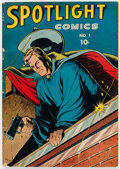 Golden Age (1938-1955):Adventure, Spotlight Comics #1 (Chesler, 1944) Condition: VG/FN....