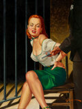 Paintings, George Gross (American, 1909-2003). Death, My Lover, True Crimes Cases cover, May 1952. Oil on canvas . 15-1/2 x 16-1/8 ...