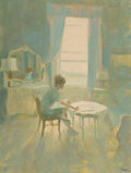 Paintings, Joe Bowler (American, 1928-2017). The Study Room. Gouache on paper. 21 x 17 inches (53.3 x 43.2 cm) (sheet). Signed lowe...