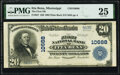 National Bank Notes:Mississippi, Itta Bena, MS - $20 1902 Plain Back Fr. 657 The First National Bank Ch. # 10688 PMG Very Fine 25.. ...