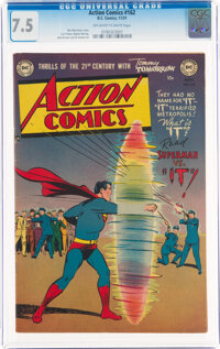Action Comics #162 (DC, 1951) CGC VF- 7.5 Off-white to white pages