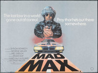 """Mad Max (Warner Brothers, 1979). Rolled, Very Fine-. British Quad (30"""" X 40"""") Tom Beauvais Artwork. Science Fi..."""