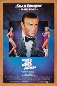 "Never Say Never Again (Warner Bros., 1983). Rolled, Very Fine+. One Sheet (27"" X 41"") Rudy Obrero Artwork. Jam..."