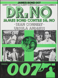"Dr. No (United Artists, R-1970s). Folded, Very Fine/Near Mint. Swiss Poster (23.5"" X 31.5""). James Bond"