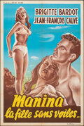 """Movie Posters:Foreign, The Girl in the Bikini (Sport Films, R-1950s). Folded, Very Fine-. French Half Grande (31.5"""" X 47.25""""). Foreign.. ..."""