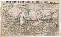 Attractive Railroad Map by Gaylord Watson