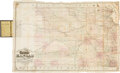 Miscellaneous:Maps, Rare Pocket Railroad Map of Kansas Published 1870 in St. Louis....