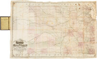 Rare Pocket Railroad Map of Kansas Published 1870 in St. Louis