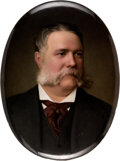 Political:Presidential Relics, Chester Alan Arthur: Impressive Large Portrait on Porcelain. ...