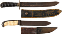 James K. Polk and Texas: Exciting Pair of Mexican War Sheathed Bowie Knives with Impeccable Provenance.... (Total: 2)