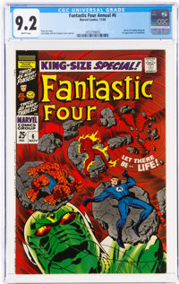 Fantastic Four Annual #6 (Marvel, 1968) CGC NM- 9.2 White pages