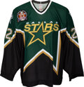 Hockey Collectibles:Uniforms, 1998-99 Brett Hull Stanley Cup-Winning Goal Game Worn Dallas Stars Jersey--Photo Matched with Hull Letter....