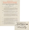 Baseball Collectibles:Others, 1938 Lou Gehrig Signed New York Yankees Player's Contract, PSA/DNA Gem Mint 10....