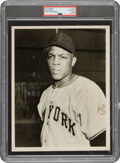 Baseball Collectibles:Photos, 1951 Willie Mays Original Photograph Used for 1952 Topps Rookie Card, PSA/DNA Type 3....