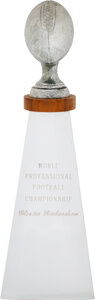 Football Collectibles:Others, 1970 Super Bowl IV Lombardi Trophy Presented to Kansas City Chiefs Wide Receiver Gloster Richardson. ...