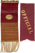 Football Collectibles:Others, 1899 Amos Alonzo Stagg Chicago Maroons vs. Brown University Official Passes Lot of 2. ... (Total: 2 item)