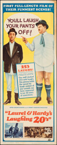 """Movie Posters:Comedy, Laurel and Hardy's Laughing 20's & Other Lot (MGM, 1965). Rolled, Overall: Fine+. Inserts (4) (14"""" X 36""""). Comedy."""