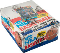 1986-87 Fleer Basketball Wax Box with 36 Unopened Packs as Issued by Fleer!