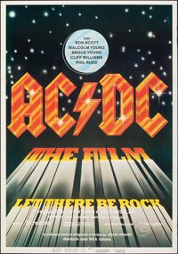 """AC/DC: Let There Be Rock (Giangi Film, 1980). Rolled, Very Fine. Italian One Sheet (27"""" X 39.5""""). Rock and Rol..."""