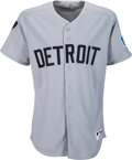 Baseball Collectibles:Uniforms, 2006 Ivan Rodriguez Game Worn Detroit Tigers Throwback Jersey, Used 7/9 vs. Mariners & MLB Authentic....