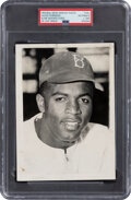 Baseball Collectibles:Photos, 1947 Jackie Robinson Original News Photograph, PSA/DNA Type 1--Image Utilized to Create 1948 Leaf Rookie Card!...
