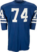Football Collectibles:Uniforms, 1970-71 Merlin Olsen Game Worn Los Angeles Rams Jersey from The John Kindler Collection....