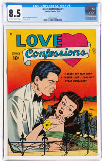 Love Confessions #1 (Quality, 1949) CGC VF+ 8.5 Off-white to white pages