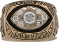 Football Collectibles:Others, 1968 New York Jets Super Bowl III Championship Duplicate Ring Made for Defensive End Gerry Philbin....