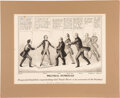 Political:Posters & Broadsides (pre-1896), Franklin Pierce: 1852 Cartoon Featuring the Nominee and Presidential Hopefuls....
