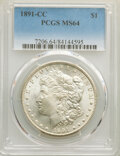 Morgan Dollars: , 1891-CC $1 MS64 PCGS. PCGS Population: (3833/798). NGC Census: (1151/133). CDN: $975 Whsle. Bid for NGC/PCGS MS64. Mintage ...