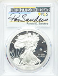 Modern Bullion Coins, 2020-W $1 Silver Eagle, v75 Privy, First Day of Issue, Ronald D. Sanders Signature, PR70 Deep Cameo PCGS. COA Included....