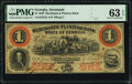 Obsoletes By State:Georgia, Savannah, GA- Merchants and Planters Bank $1 June 1, 1859 G2c Remainder PMG Choice Uncirculated 63 EPQ.. ...