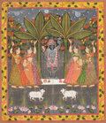 Works on Paper, A Group of Five Indian Paintings. 43 x 36-1/2 inches (109.2 x 92.7 cm) (largest). ... (Total: 5 Items)