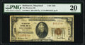 National Bank Notes:Maryland, Baltimore, MD - $20 1929 Ty. 1 The Western National Bank Ch. # 1325 PMG Very Fine 20.. ...