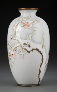 A Japanese Cloisonné Vase, Attributed to Namikawa Sosuke (1847-1910), Meiji period 6-1/8 inches (15.6 cm)