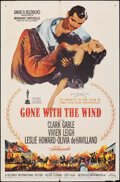"""Movie Posters:Academy Award Winners, Gone with the Wind (MGM, R-1961/R-1968). Folded, Fine+. One Sheet (27"""" X 41"""") & Cut Pressbook (14 Pages, 12.5"""" X 17.25""""). R-... (Total: 2 Items)"""