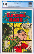Golden Age (1938-1955):Horror, Clutching Hand #1 (ACG, 1954) CGC VG 4.0 Off-white to white pages....