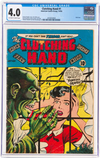 Clutching Hand #1 (ACG, 1954) CGC VG 4.0 Off-white to white pages