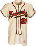 Baseball Collectibles:Uniforms, 1962 Tommy Aaron Game Worn Atlanta Braves Jersey - Rookie Year....