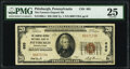 Pittsburgh, PA - $20 1929 Ty. 1 The Farmers Deposit National Bank Ch. # 685 PMG Very Fine 25