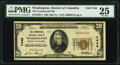 Washington, DC - $20 1929 Ty. 1 The Commercial National Bank Ch. # 7446 PMG Very Fine 25