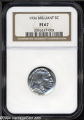 Proof Buffalo Nickels: , 1936 Type Two--Brilliant Finish PR 67 NGC. The current ...