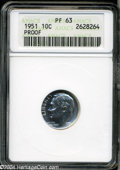 Proof Roosevelt Dimes: , 1951 PR 63 ANACS. The current Coin Dealer Newsletter (...