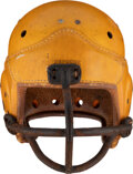 Football Collectibles:Helmets, 1940's Green Bay Packers Game Worn Helmet....