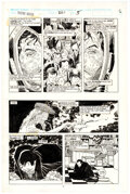 Original Comic Art, John Romita Jr. and Bob Wiacek Iron Man #261 Story Page 5 Original Art (Marvel, 1990)....