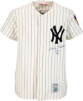 """Baseball Collectibles:Uniforms, Circa 1990 Mickey Mantle Signed New York Yankees Jersey with """"No. 6 1951"""" Inscription. ..."""