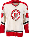 Hockey Collectibles:Others, 1976-77 Wayne Merrick Cleveland Barons Game Worn NHL Jersey. ...